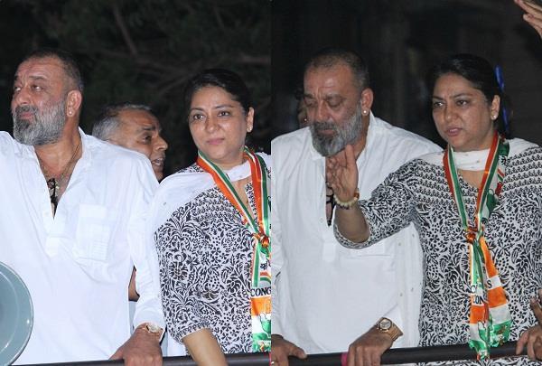 sanjay dutt support congress candidate priya dutt