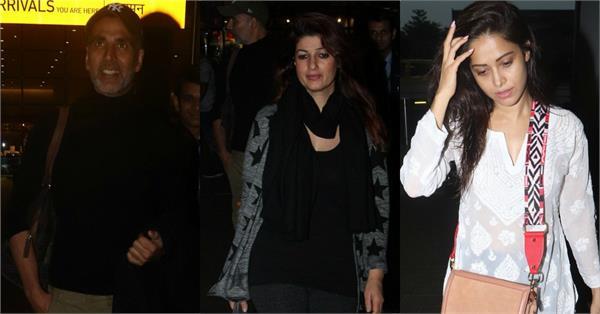 akshay kumar twinkle khanna nushrat bharucha spotted at airport