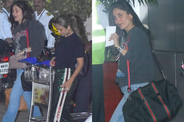 kareena amrita spotted at airport