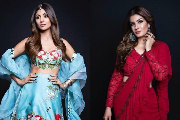 shilpa shetty raveena tandon latest pictures
