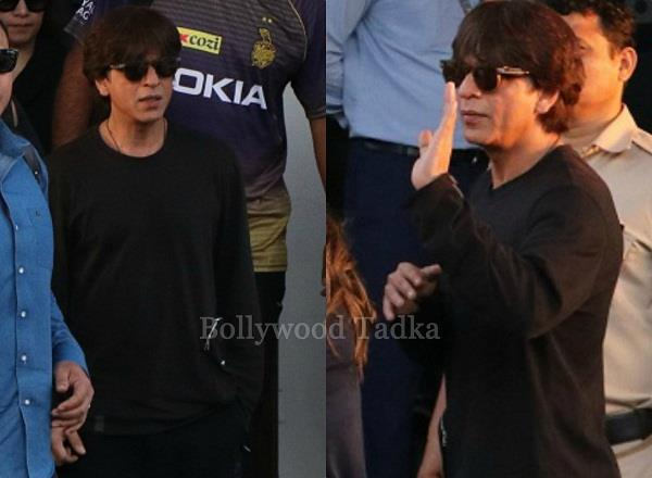 shahrukh khan spotted at airport