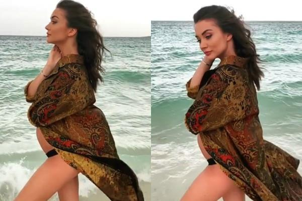 amy jackson share hot video