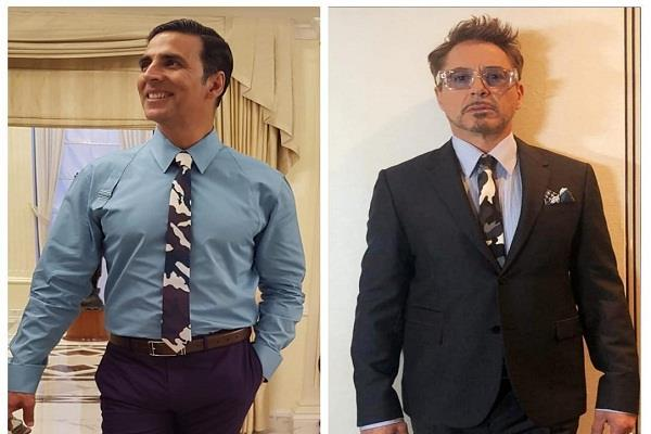 akshay kumar robert downey jr wore same tie