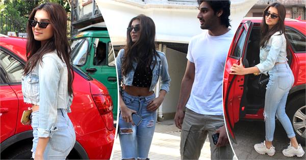 tara sutaria spotted with ahan shetty
