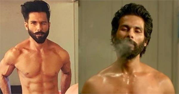 shahid kapoor share his fit to fat picture