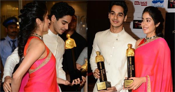 janhvi kapoor ishaan khattar ateend dadashaeb phalke awards 2019