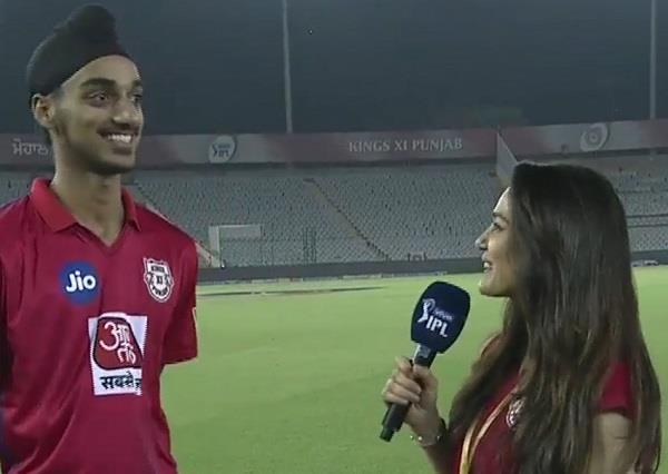 preity zinta interviews arshdeep after debut against rajasthan in ipl