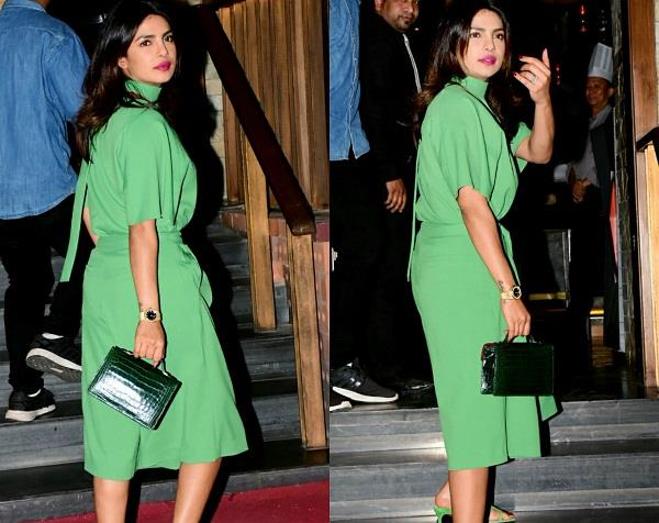 priyanka chopra green dress