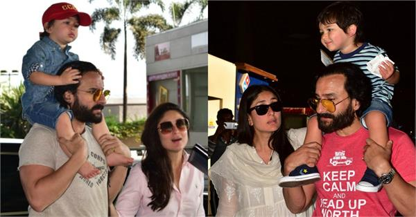 taimur is back in town with kareena saif