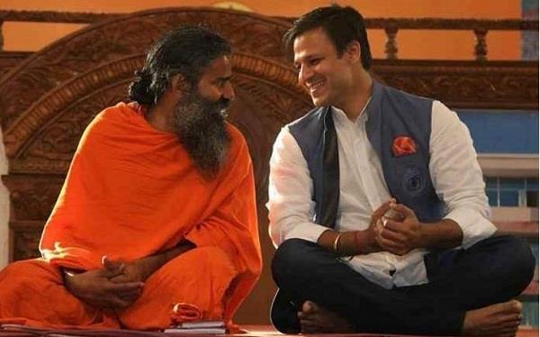 vivek oberoi share picture with ramdev baba