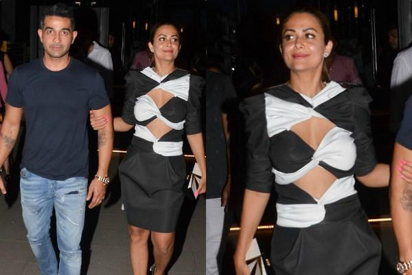 amrita arora at dinner date with husband