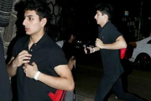 ibrahim ali khan spotted outside friend house