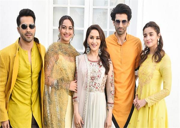 kalank promotion film cast promote her film in traditional looks