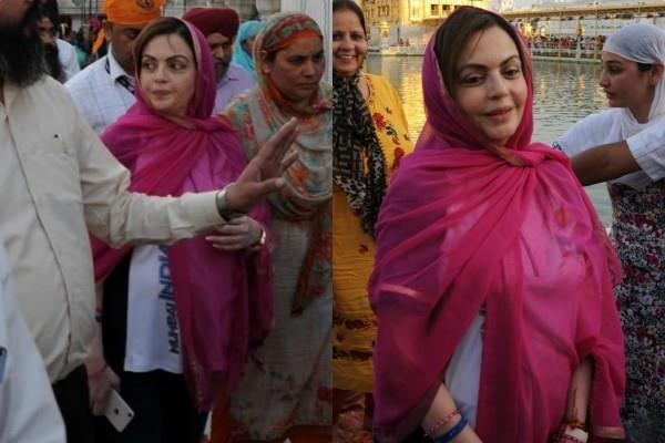 nita ambani visits golden temple