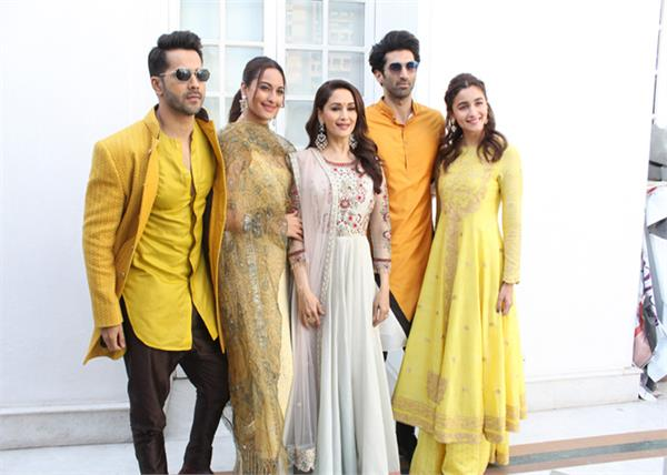 kalank starcast to promote film kalank comes to delhi