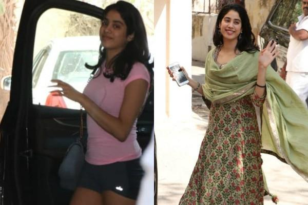 janhvi kapoor enter the gym in shorts and come out in a suit