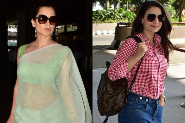 kangana ameesha spotted at airport