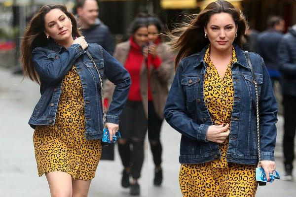 kelly brook leopard print dress pictures