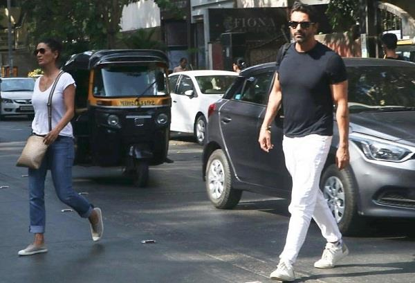 arjun rampal spotted with ex wife