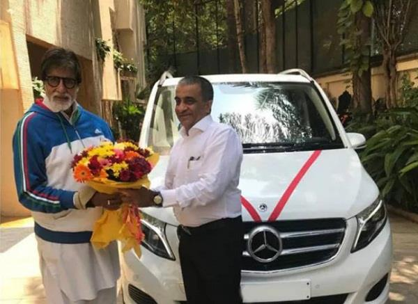 amitabh bachchan new car mercedes benz v class pictures
