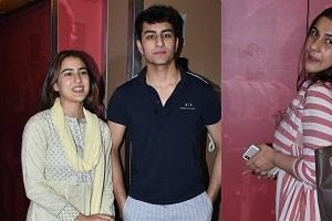sara ali khan spotted with family