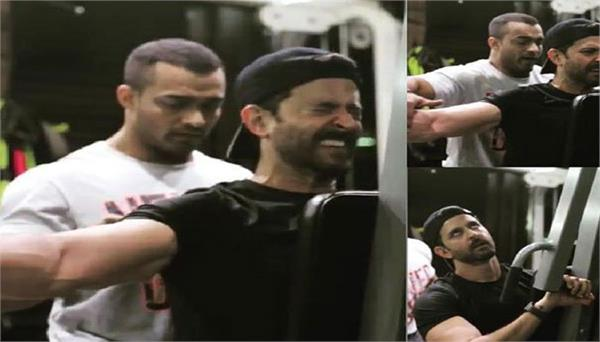 actor hrithik roshan seen sweat in the gym despite severe injuries