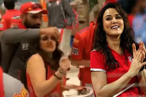 mohammed shami smear cake on preity zinta face see what her reaction