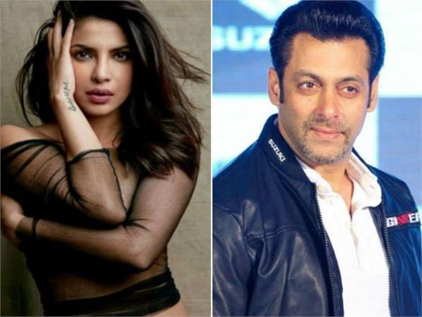 salman want that priyanka permote his movie bharat