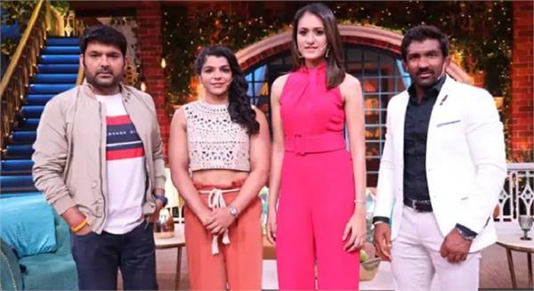 gold medalist sakshi yogeshwar manika to grace kapil sharma show tv show