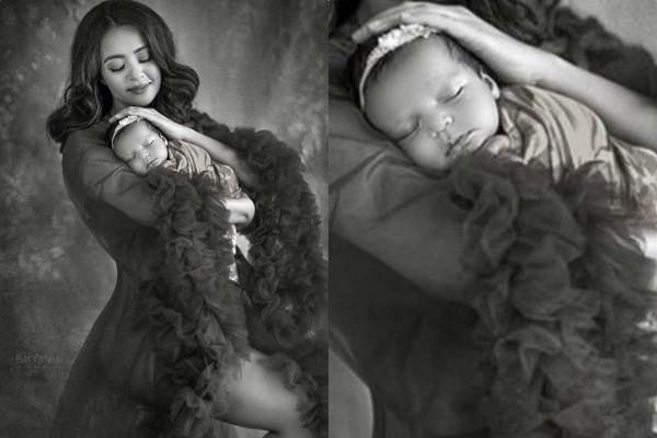 surveen chawla cute photoshoot with daughter eva