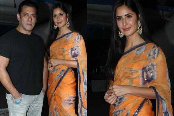 katrina kaif traditional look for bharat film pronotion with salman khan