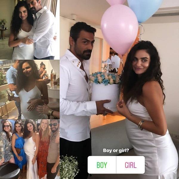 arjun rampal host baby shower party for gf gabriellade metriades
