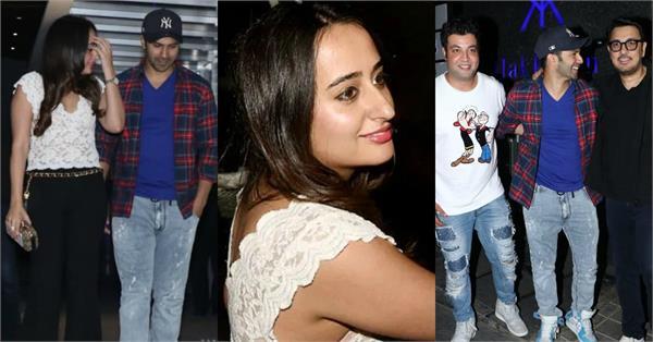 varun dhawan natasha dalal night out with close friends