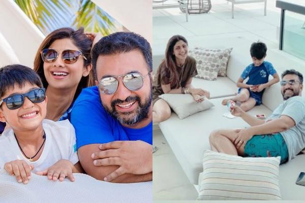 shilpa shetty enjoy holiday in thailand with husband and son