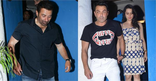 sunny deol spotted at birthday celebration with family