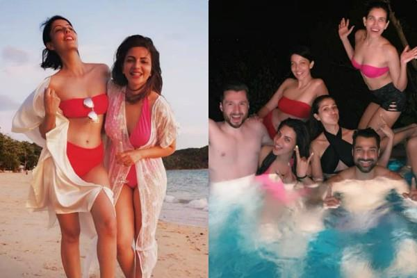 shama sikander enjoy holiday in thailand with friends
