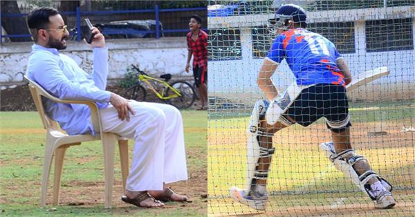 saif ali khan goes to watch son ibrahim cricket match