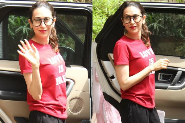 karisma kapoor spotted outside the clinic