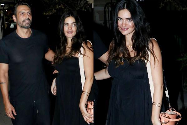 arjun rampal party with girlfriend gabriella