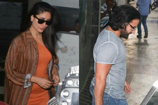 saif ali khan and kareena kapoor spotted
