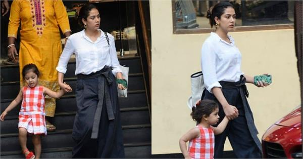 mira rajput spotted at market with daughter misha kapoor