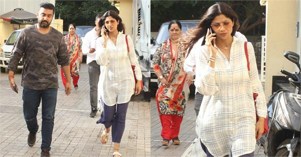 shilpa shetty spotted with raj kundra sunanda shetty