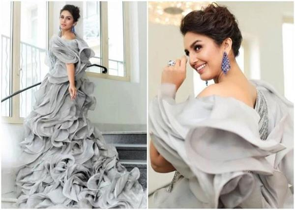 huma qureshi looks stunning in grey gown for cannes 2019
