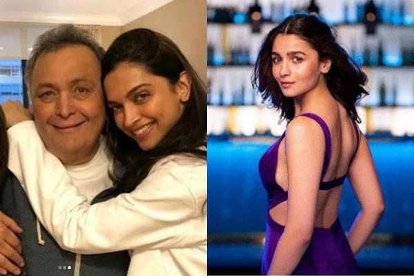 alia bhatt reacted to deepika padukone pics with rishi kapoor