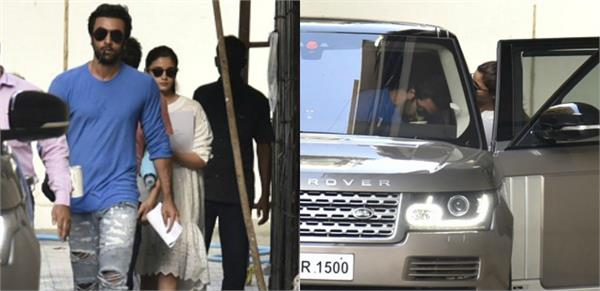 ranbir kapoor alia bhatt spotted at dharma production office