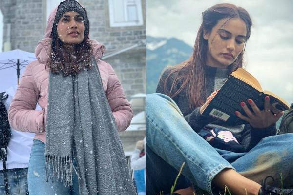 स्विट्जरलैंड में बर्थडे सेलिब्रेट कर रही हैं 'नागरानी बेला', बर्फबारी में यूं दिए पोज