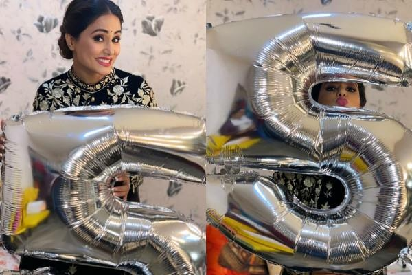 hina khan touch 5 million followers on instagram celebrate with her team