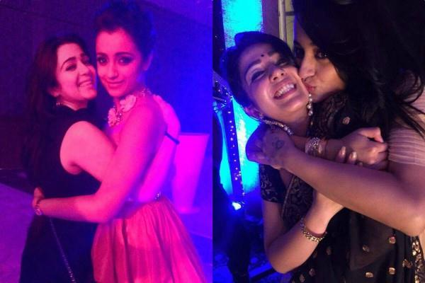 charmme kaur share a picture with trisha krishnan