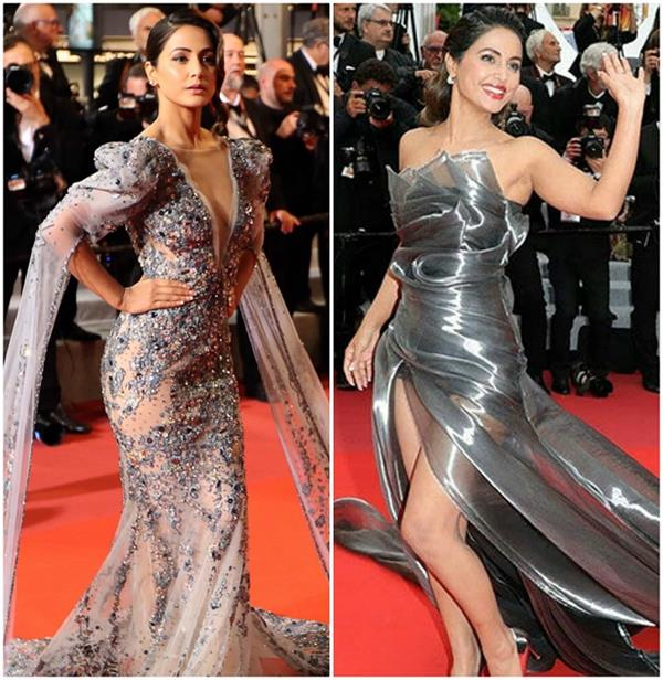 hina khan surprises fans in another hot look at the red carpet of cannes 2019