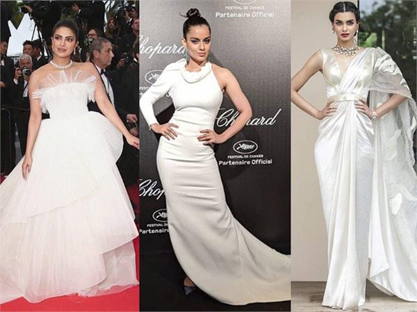 bollywood divas in white color dresses at cannes 2019